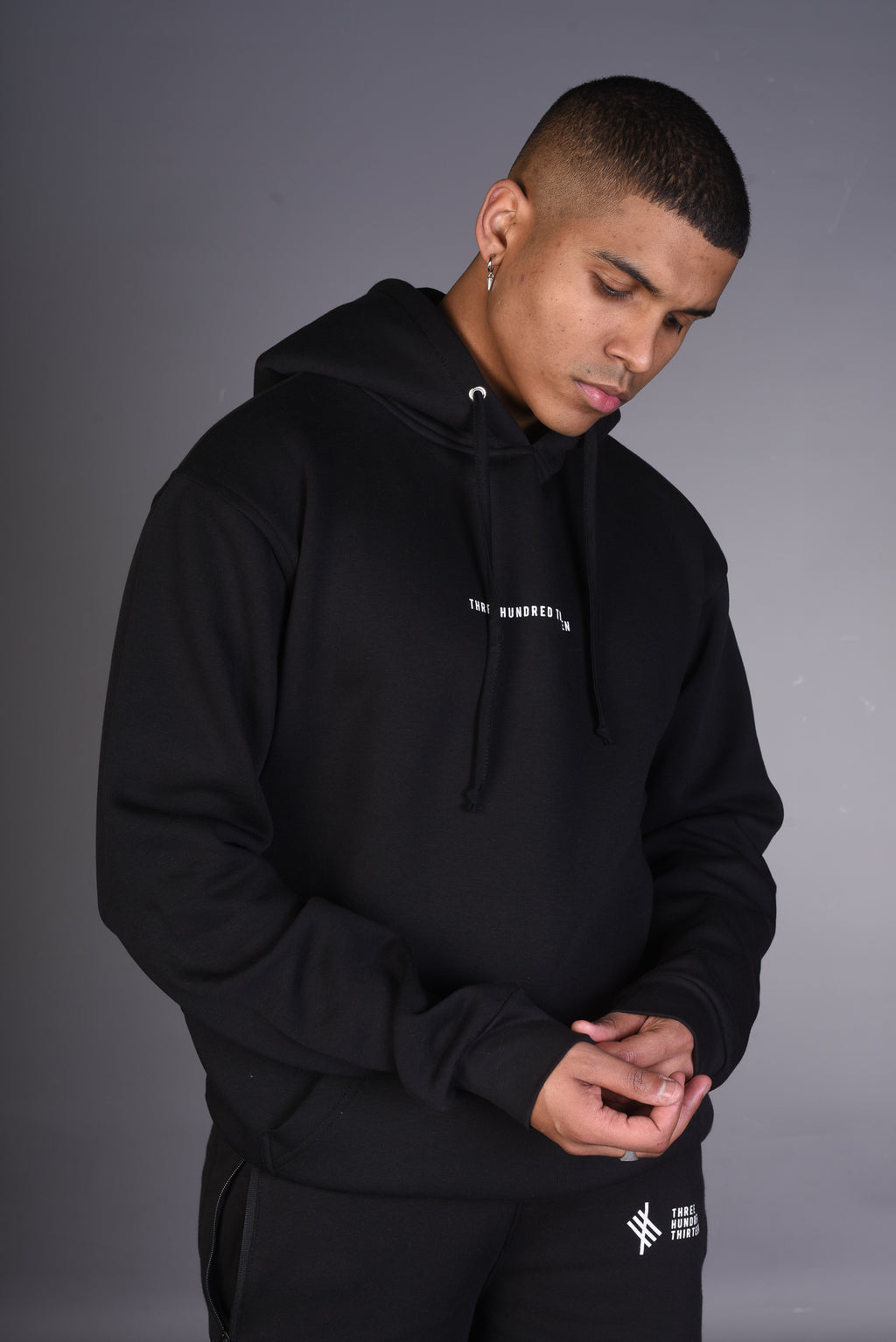 THREE HUNDRED THIRTEEN Hoody - Black