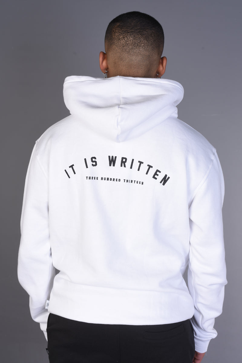 IT IS WRITTEN / DESTINY Arabic Hoody - White