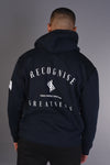 Recognise Greatness - Oversized Heavy Hoody - Navy