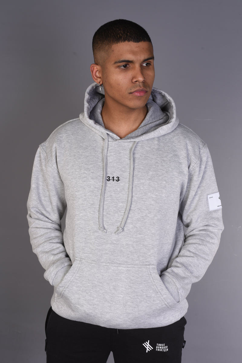 Recognise Greatness - Oversized Heavy Hoody - Grey