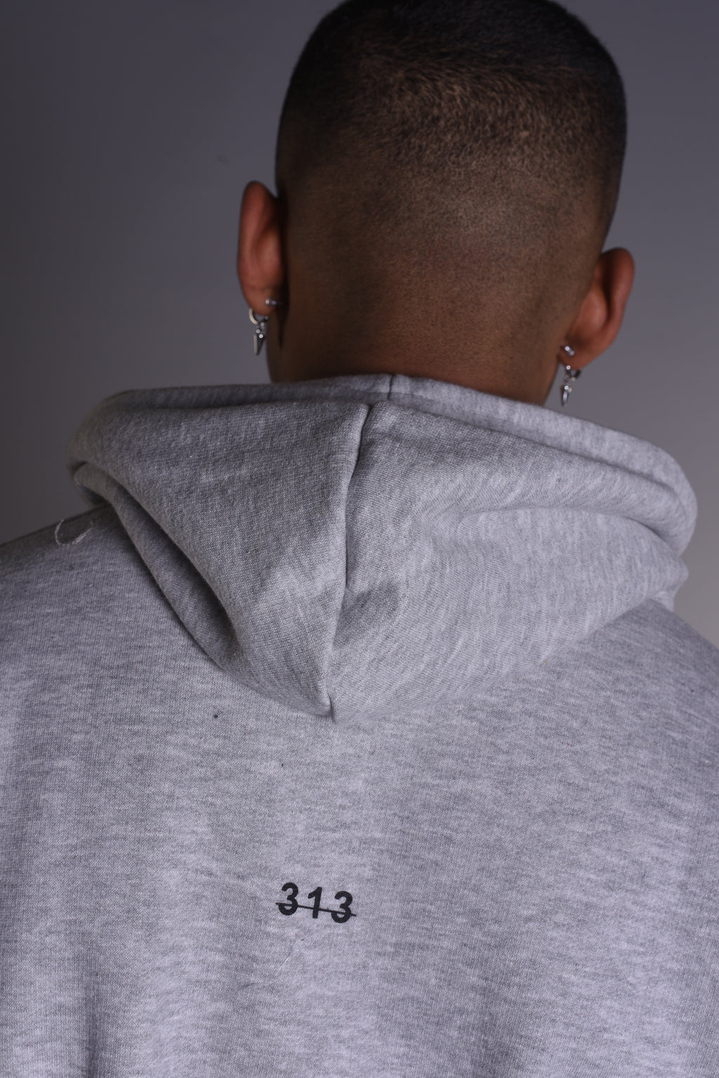 Signature Logo - Oversized Heavy Hoody - Grey