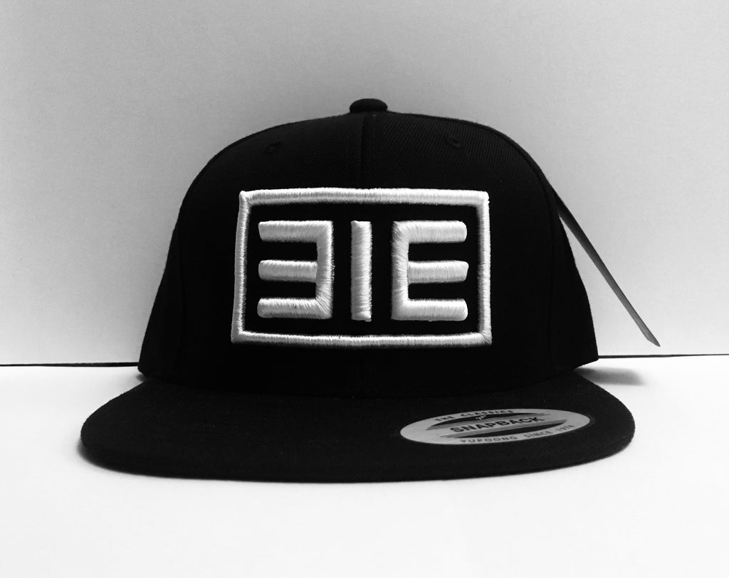313 Block 3D Black Flatpeak Snapback