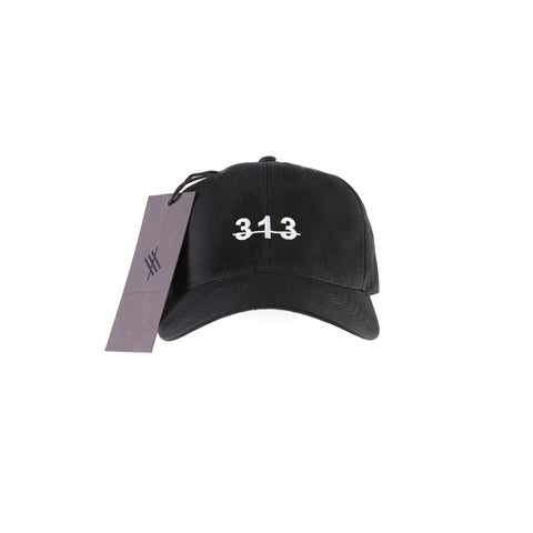 313 3D Black Flatpeak Snapback