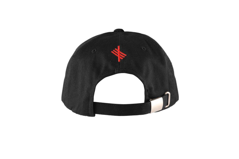 BADR - Red on Black Baseball Cap