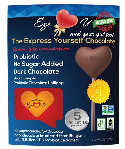 Sugar Free Probiotics Dark Chocolate - Heart (12 packs)