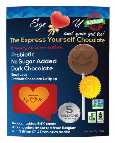 Sugar Free Probiotics Dark Chocolate - Emoji Love (12 packs)