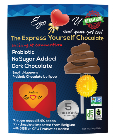 Sugar Free Probiotics Dark Chocolate - Emoji It Happens (12 packs)