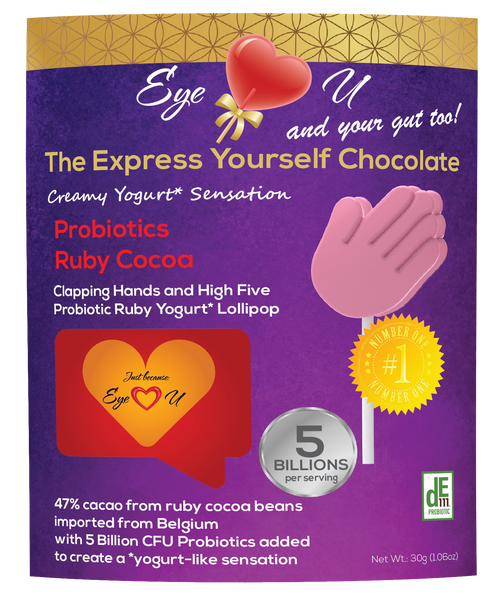 Ruby Chocolate 47.3% Cocoa Probiotics - Clapping Hands and High Five (12 packs)