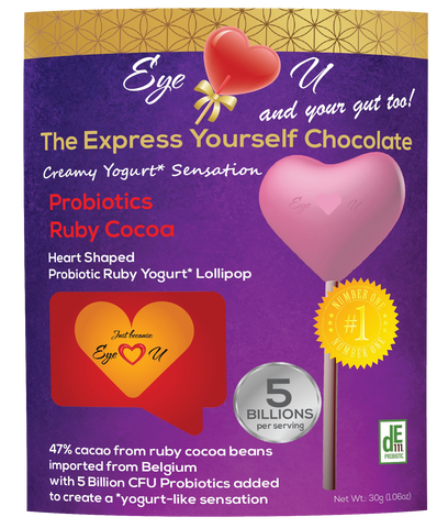 Ruby Chocolate 47.3% Cocoa Probiotics - Heart (12 packs)