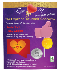 Ruby Chocolate 47.3% Cocoa Probiotics - Thumbs Up for Good Job (12 packs)