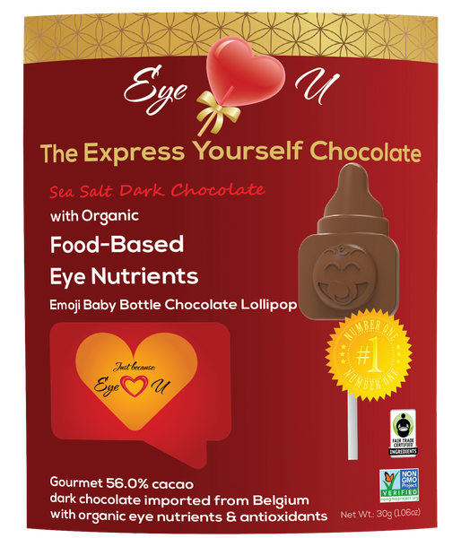 Sea Salt Dark Chocolate - Emoji Baby Bottle (12 packs)
