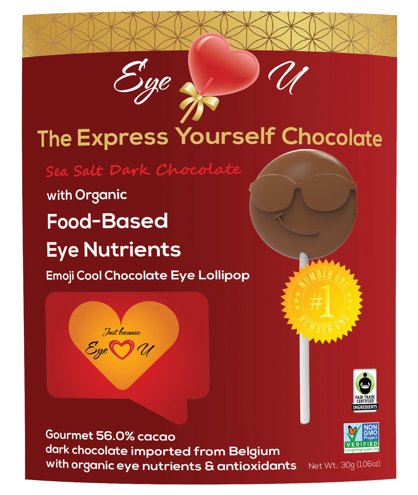 Sea Salt Dark Chocolate - Emoji Cool (12 packs)