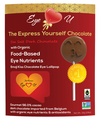 Sea Salt Dark Chocolate - Emoji Kiss (12 packs)