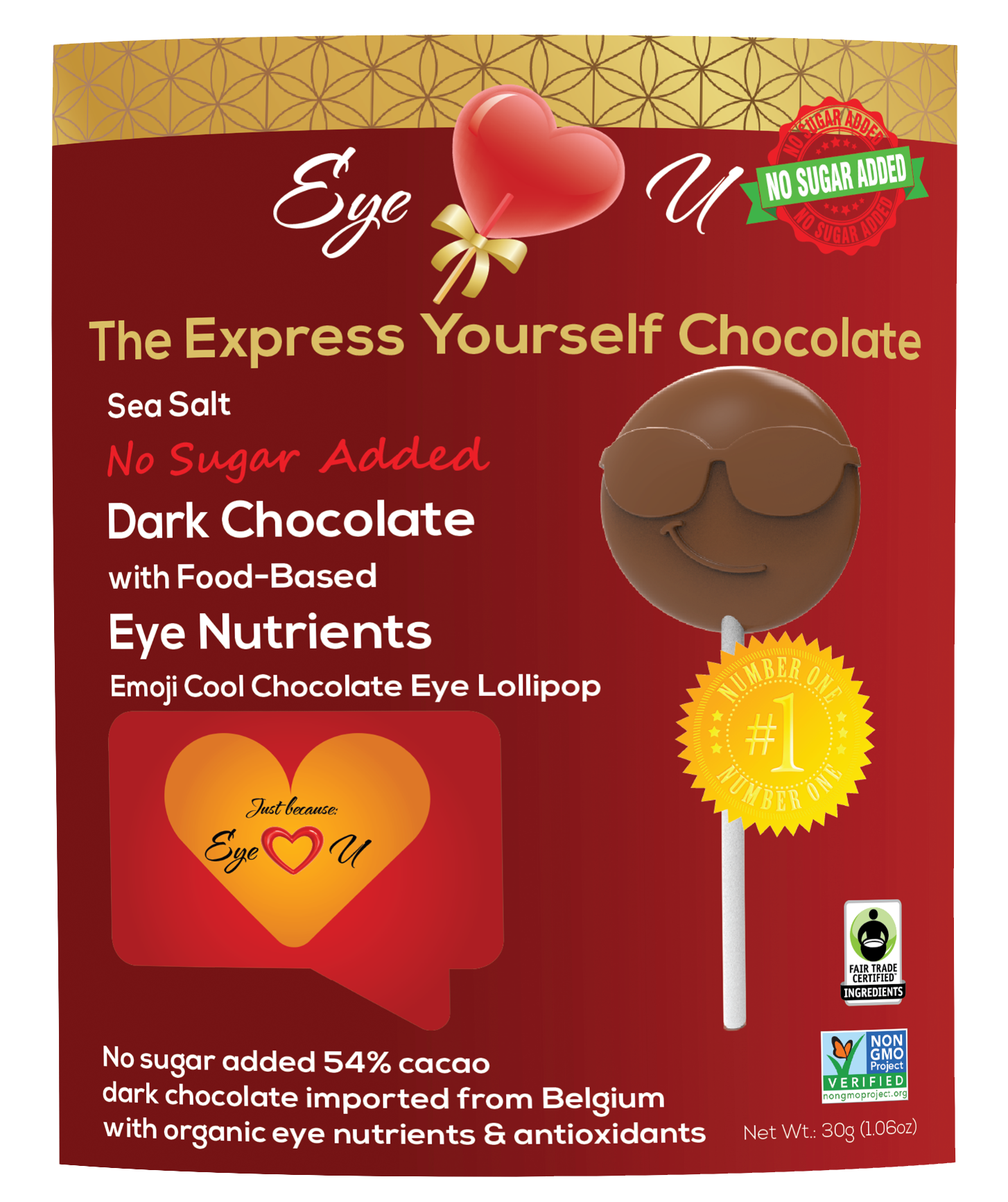 Sugar Free Sea Salt Dark Chocolate -  Emoji Cool (12 packs)