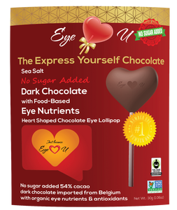 Sugar Free Sea Salt Dark Chocolate -  Heart (12 packs)
