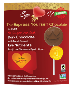 Sugar Free Sea Salt Dark Chocolate -  Emoji Love (12 packs)
