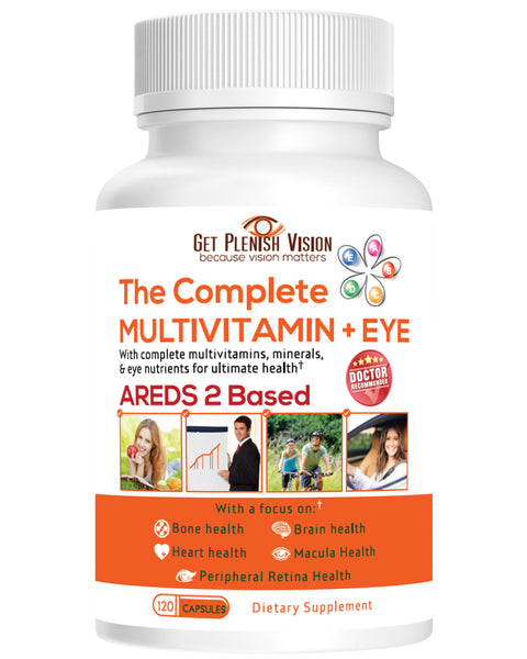 Get Plenish Vision - The Complete Multivitamin + Eye | AREDS 2 Based | 120 Capsules