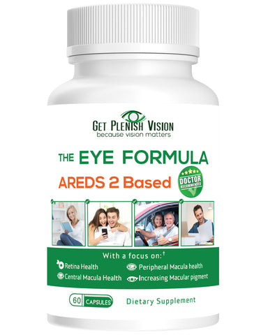 Get Plenish Vision - The Eye Formula | AREDS 2 Based | 60 Capsules