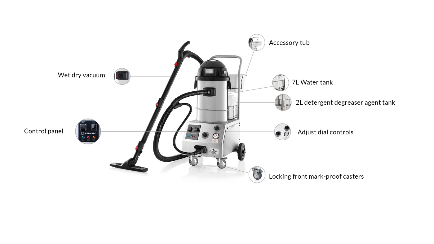 TANDEM PRO 2000CV COMMERCIAL STEAM CLEANING SYSTEM - FEATURES