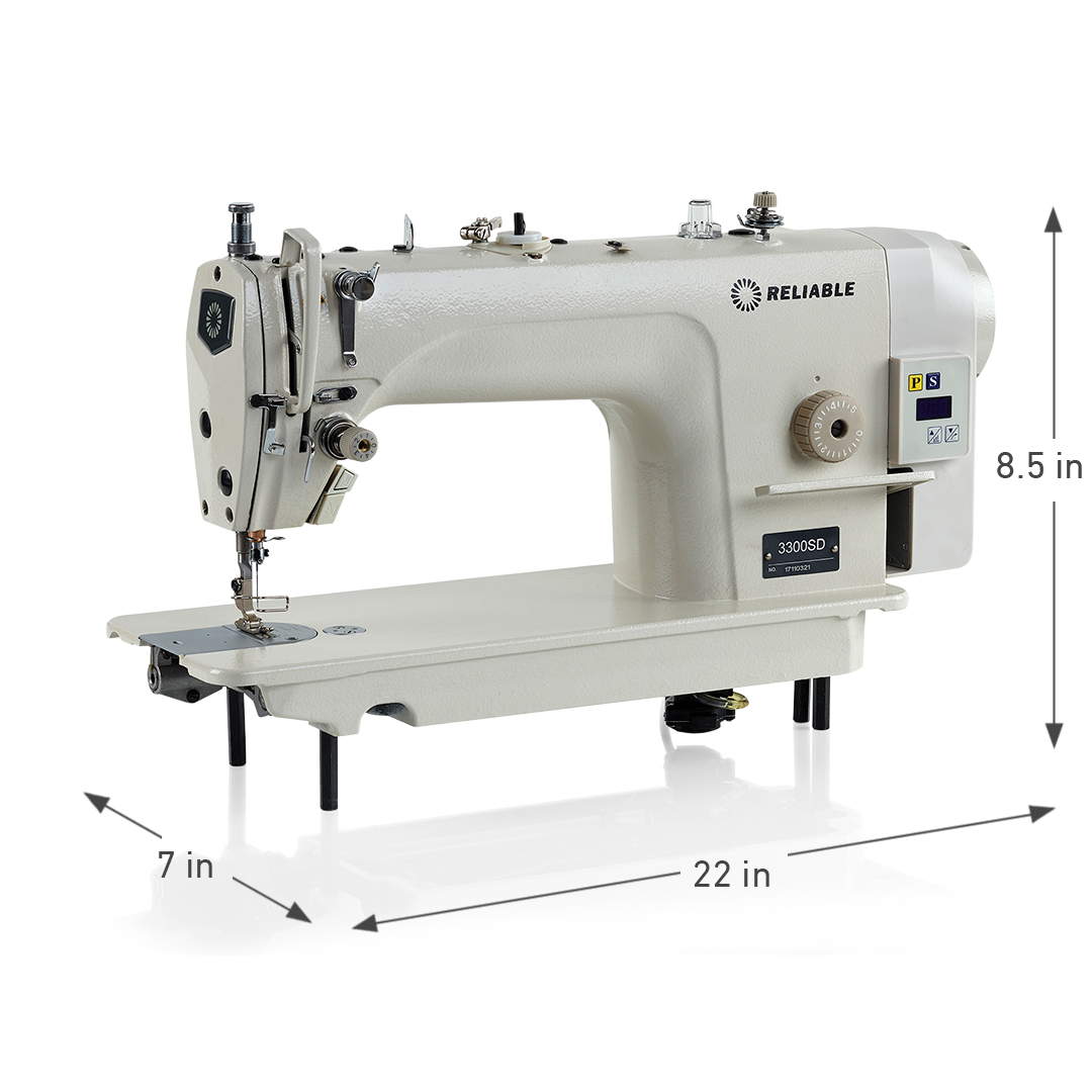 3300SD DIRECT DRIVE SINGLE NEEDLE SEWING MACHINE DIMENSIONS