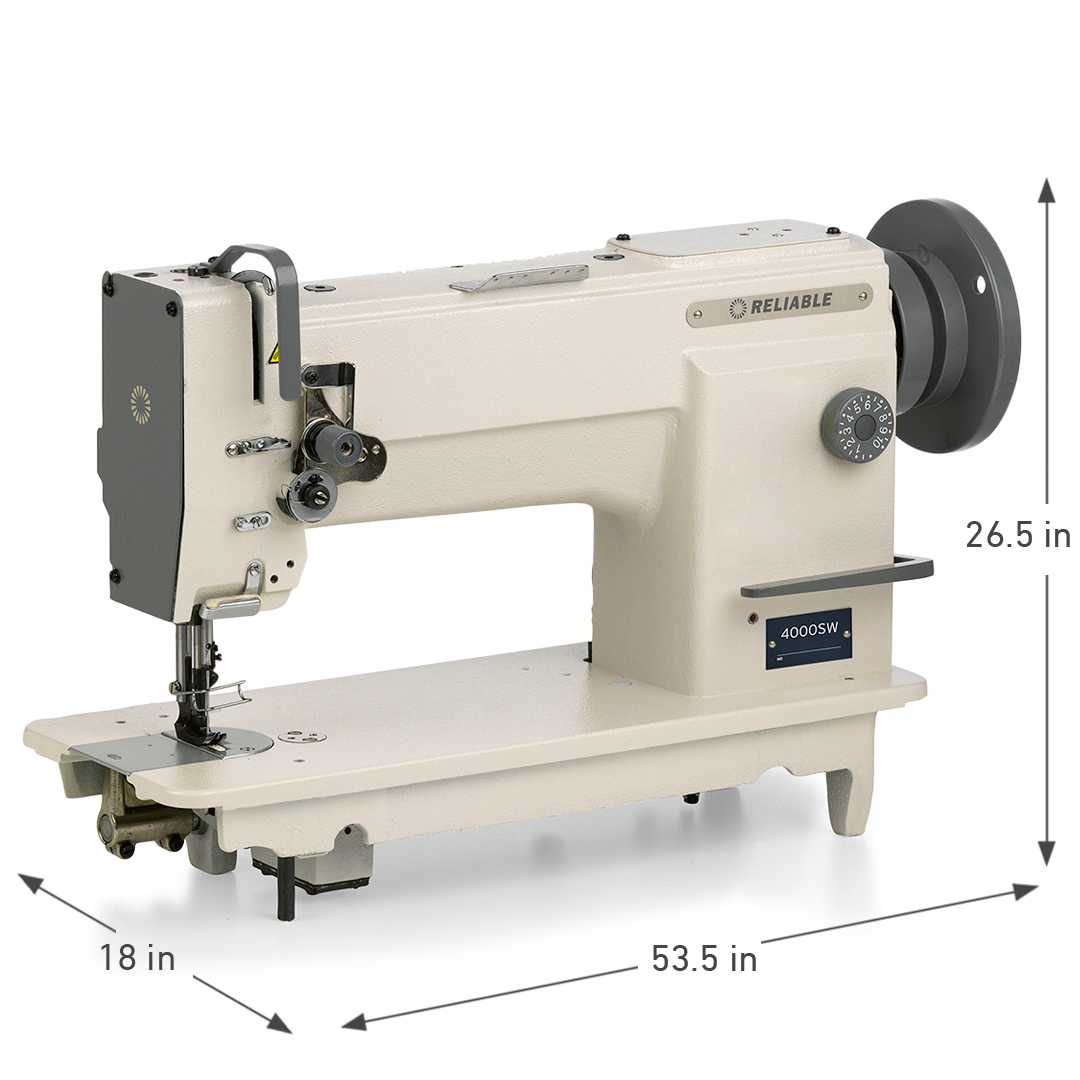 4000SW SINGLE NEEDLE WALKING FOOT SEWING MACHINE DIMENSIONS