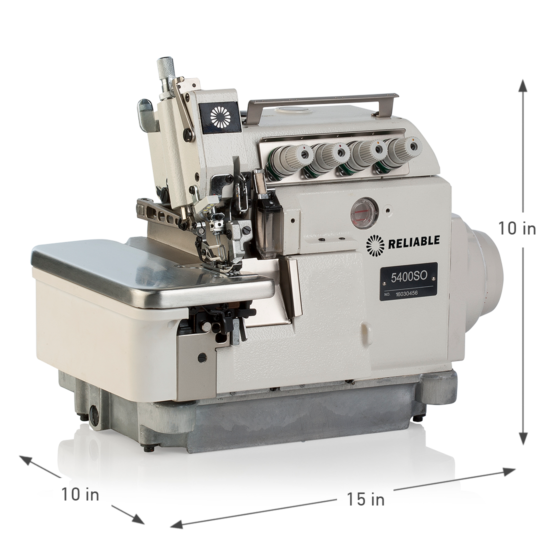 5400SO DIRECT DRIVE 3/4 THREAD SERGING MACHINE SEMI SUB DIMENSIONS