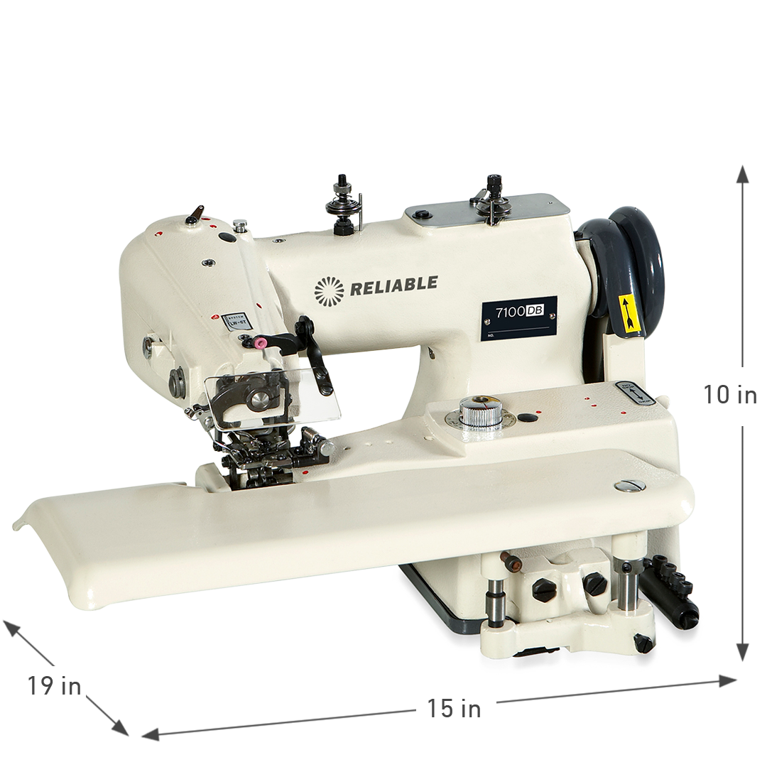 7100DB DRAPERY BLINDSTITCH SEWING MACHINE DIMENSIONS