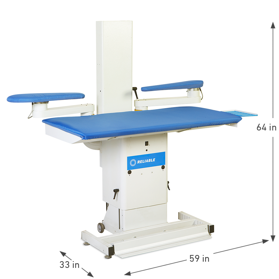 7600VB PRO VACUUM & UP-AIR PRESSING TABLE DIMENSIONS