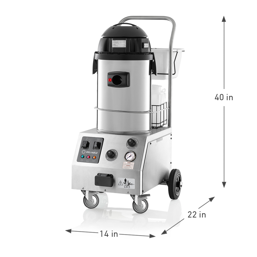 TANDEM PRO 2000CV COMMERCIAL STEAM CLEANING SYSTEM DIMENSIONS
