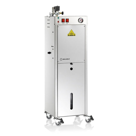 9000BU-3800IA PROFESSIONAL STEAM BOILER WITH BRUSH - STAINLESS STEEL BOILER AND TANK