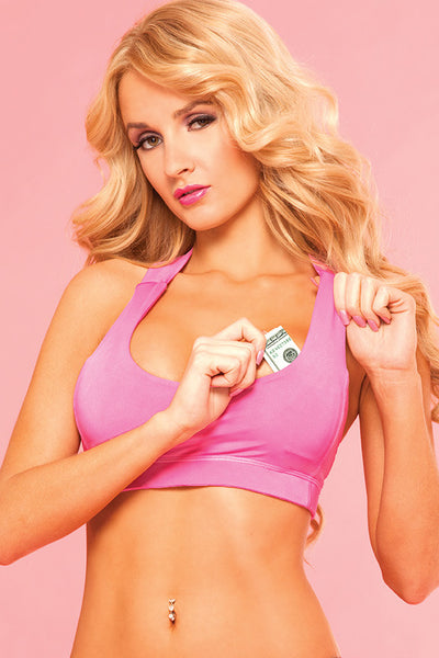 Pink Lipstick Lingerie 23018-PNK Pure Performance All Sports Bra-Front View