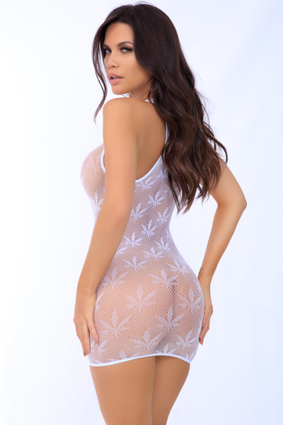 Festival Flirt Fishnet Mini Dress - Pink Lipstick Lingerie