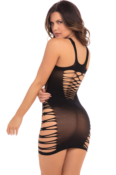 Back To Basixxx High Neck Dress - Pink Lipstick Lingerie