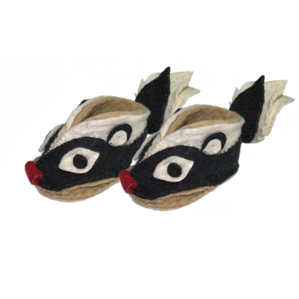 Skunk Zooties Baby Booties - Silk Road Bazaar