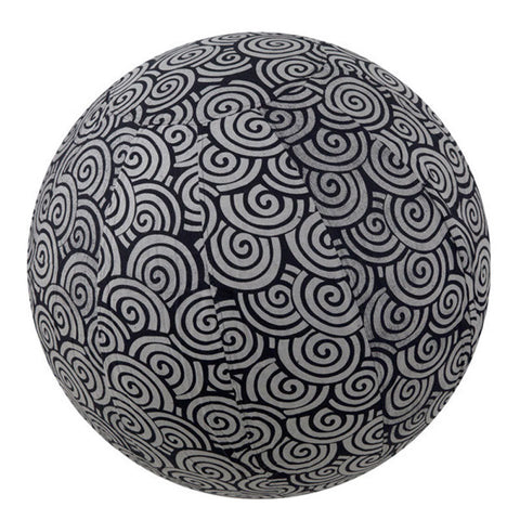 Yoga Ball Cover Size 65 Design Black Swirl - Global Groove (Y)