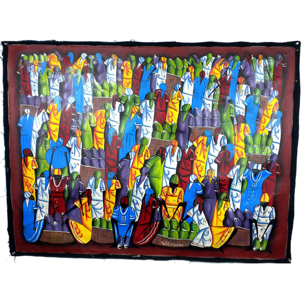 Haitian Acrylic Painting on Canvas Handmade and Fair Trade