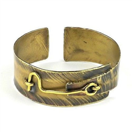 Hook and Eye Brass Cuff Handmade and Fair Trade