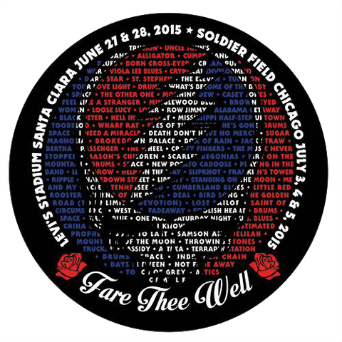 Fare Thee Well Every Song Sung Sticker