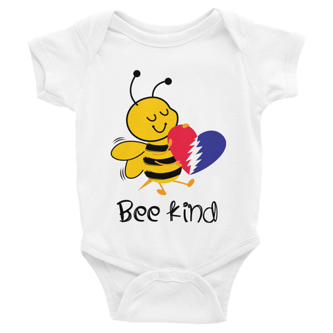 Baby Grateful Dead Bee Kind Onesie