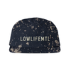 embroidered bleached LOGO 5 Panel Hat