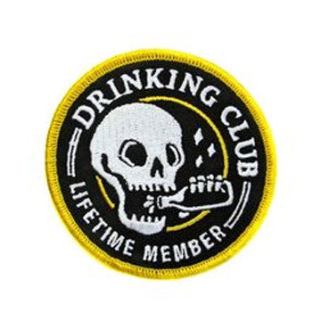 broke and stoked - Drinking Club Patch