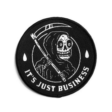 broke and stoked - It's Just Business Patch