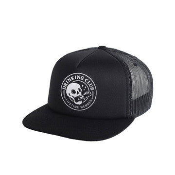 broke and stoked - Drinking Club Trucker Hat