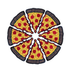 Pizza 3'' Patch
