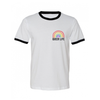 queer life - ringer rainbow t-shirt