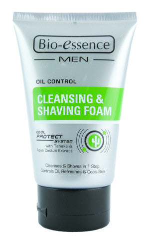 Men Oil Control Cleansing & Shaving Foam