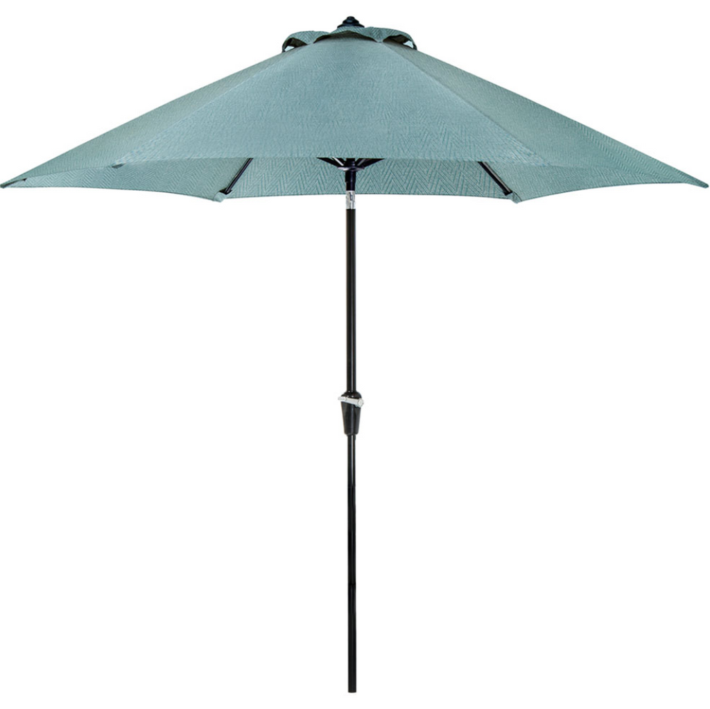 4ddc00f01967 Hanover 9' Lavallette Outdoor Table Umbrella in Blue 013964885859 ...