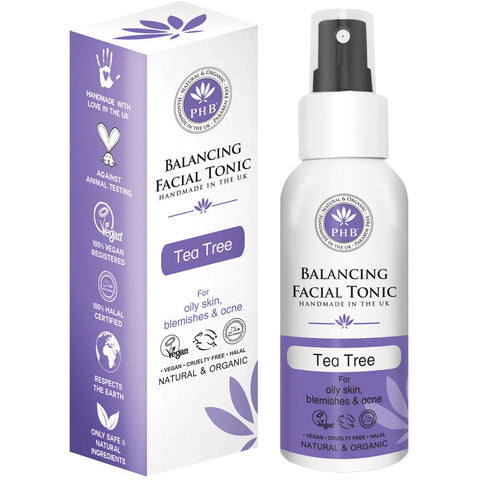 PHB Ethical Beauty Balancing Facial Tonic with Tea Tree (100ml) - Melariche