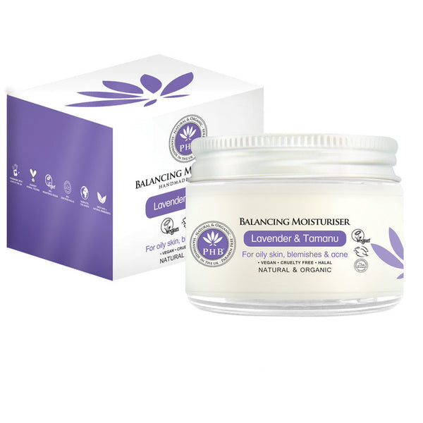 PHB Ethical Beauty Balancing Moisturiser with Organic Lavender & Tamanu (50ml) - Melariche