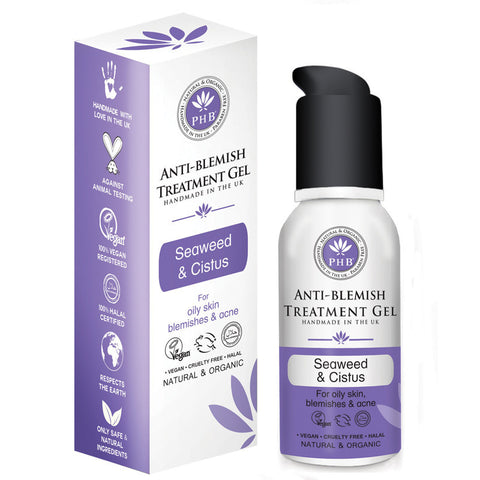 PHB Ethical Beauty Anti-Blemish Treatment Gel with Organic Seaweed & Cistus (50ml) - Melariche